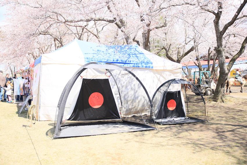 流鏑馬練習用の的_十和田春まつり2017